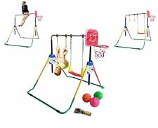 Kids Climb Deluxe Swing Set Playground Playset Jungle Gym Monkey bars Basketball
