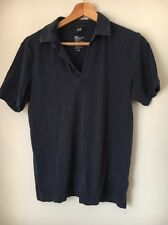 """H&M Navy Cotton Size S 36"""" Polo T-Shirt Top <T12780"""