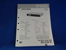 Sony ST-S222ES Stereo Tuner Service Manual