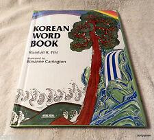 Korean Word Book by Marshall R. Pihl (1993, Hardcover) Learn Korean Words