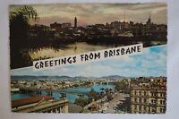 Greetings from Brisbane Queensland Australia Vintage Collectable Postcard.