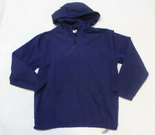 Energy Zone Navy Blue Mesh Lined Hooded 1/4 Zip Lightweight Jacket Size M 10/12