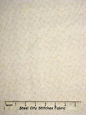 "Riverwoods Farm Doodles Blender Beige Cream Patterned Cotton Fabric 25"" Length"