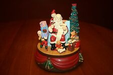 Santas Best Animated Music Box Five Movements Santa Claus is Coming to Town 1993