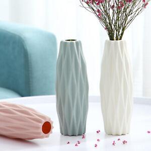 Flower Vase Decoration Home Plastic Imitation Ceramic Flower Pot Basket Nordic