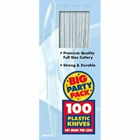 Big Party Pack Clear Plastic Knives  (100 Pack)