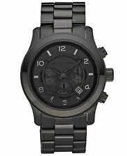 *NEW* MICHAEL KORS RUNWAY WATCH MK8157 - MENS BLACK CHRONOGRAPH