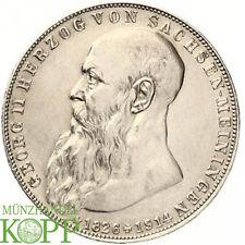F155) J.154 SACHSEN MEININGEN 2 Mark 1915 - Georg II. 1866-1914 - Tod