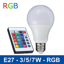 3W LED RGB Bulb E27 Remote Control Light Color Changing Spotlight 85-265V Lamp
