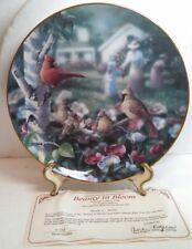 Beauty In Bloom Family Album Danbury Mint Collector Plate Bradley Jackson
