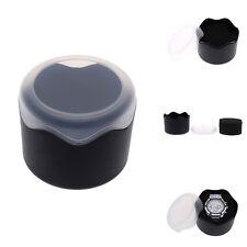 Wristwatch Box Case with Sponge Cushion Fashion Round Plastic Single Watch Box