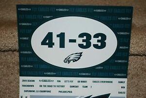 Philadelphia Eagles Super Bowl Season Ticket Car Magnet Refrigerator Magnets NEW