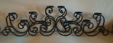 Wrought Iron Pillar CANDELABRA for tables/walls/windows/fireplaces... 10 candles