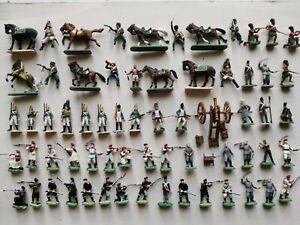 Lot soldats anciens esci hat italeri armée canon empire Waterloo figurines 1/72