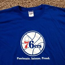 New NBA Philadelphia 76ers Blue Men's XL Cotton Blend Shirt NWOT Basketball Tee