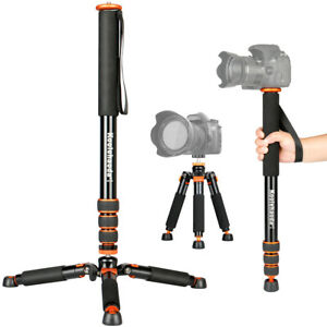 66.5-inch Aluminium Camera Monopod With Mini Tripod Base.Max Leg diameter: Φ31mm