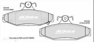 SSangyong Rear Brake Pads DB1338 ACDelco ACD1338 Musso Korando Chairman Daewoo
