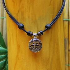 Leather Necklace Viking Jewelry Men's Männerhalskette Odin