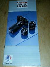 New listing Canon Fd Lenses Sales Brochure