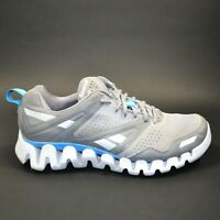 Reebok Zigtech Men's Size 10.5 Gray Blue White Running Athletic Shoes