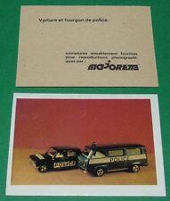 VOITURE ET FOURGON DE POLICE ECOLE BON-POINT MINIATURE MAJORETTE 1970 70's