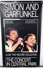 "SIMON AND GARFUNKEL Concert In Central Park 1982 WB Promo Poster 23""Wx39""H VG"