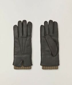 Loro Piana $1K Baby Cashmere & Leather Gloves (NWT)