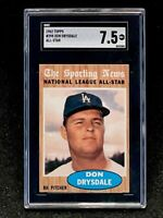 1962 Topps #398 Don Drysdale All Star SGC 7.5