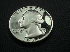 UNITED STATES    25 Cents   1981 S    TYPE 1    PROOF  *