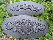 2 abs plastic mold decor accent moulds 2 embellishment designs