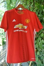 Adidas Climalite Manchester United Chevrolet Mens Soccer Athletic Shirt Size L