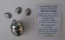 j PINE CONE wish BOX CHARM pendant nature Charm triplet locket eternal life Ganz