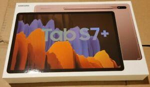 NEW Samsung Galaxy Tab S7 Plus S7+ 128GB, Wi-Fi, 12.4 in - Mystic Bronze, S Pen