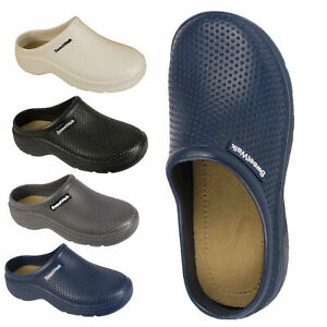 Womens Ladies Sweet Walk Garden Beach Nurse Casual Mules Clogs Sandals Shoe Size