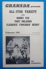 Bobby Vee Tony Orlando Springfield Original Concert Tour  Programme UK Tour 1962