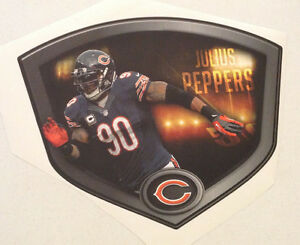 """Julius Peppers FATHEAD Official Player Shield 18"""" 15"""" NFL Wall Graphics BEARS"""