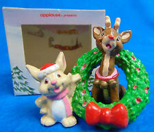 Rare 1989 50th Anniversary Rudolph Christmas Collectible PVC Figurine Applause