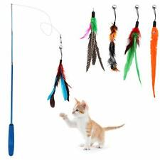 New listing Feather Teaser Cat Toy Interactive Cat Feather Toys Wand Retractable Durable