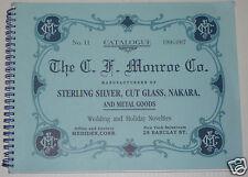C. F. Monroe Sterling Silver Cut Glass catalog book Nakara Wave Crest ABCG  j9
