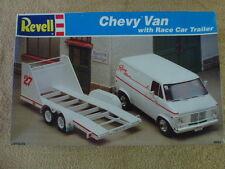 Revell Chevy Van with race car trailer// NHRA Drag Racing or Nascar Hauler..Nice