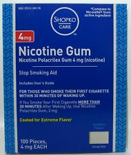 Nicotine Gum 4 mg 100 Count Box Ice Mint Flavor Exp 09/2020