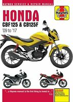 Honda CBF125 & CB125F 2009 - 2017 Haynes Manual 5540 NEW
