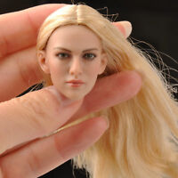 "KIMITOYS KT004 1/6 Female Head Sculpt Model Toy Golden Hair For 12"" Figure Body"