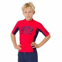 Animal Kids Hiltern Short Sleeve Rash Top | Tomato Red
