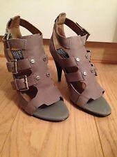 Grey Leather Sandals, Bertie, 37/4