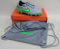 NIKE Mens Wolf Grey Green Strike Tiempo Legend V FG Football Boots UK7 EU41 NEW