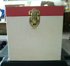 VTG METAL CARRY CASE FOR 45 rpm RECORDS w/DIVIDERS-HOLDS 80 45s w/RECORDS