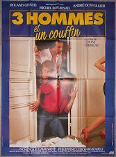Affiche TROIS HOMMES ET UN COUFFIN Coline Serreau ROLAND GIRAUD Boujenah 120x160