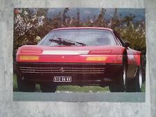 FERRARI 288 GTO  FERRARI 512 BB   poster  affiche 59 x 42 cm