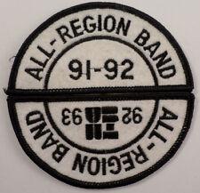 All Region Band 1991-1992 1993 Uniform Music Patch